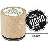 """Woodies sello de goma montado 1,35""""100% hecho a mano, acrílico, multicolor, 3piezas"""