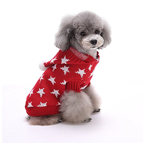 Haustier-Pullover, weihnachtlich, Strick, warm, für Hunde und Katzen ()