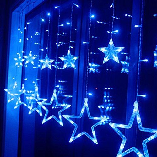 HAPPY ELEMENTS 2.5M 138 LED tenda di finestra Starlight luce leggiadramente della stringa di cerimonia nuziale della festa di Natale (Blu)