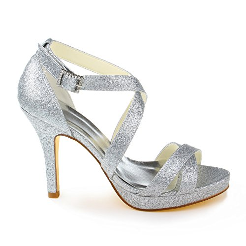 Jia Jia Wedding 37059 chaussures de mariée mariage Escarpins pour femme Argent
