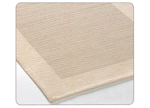 Alabama Acryl (Teppich Rutschfest Schlafzimmer und Wohnzimmer Typ Alabama 85x150 cm beige)