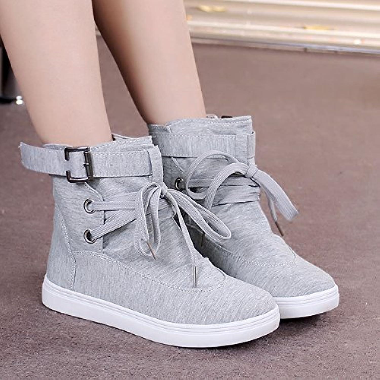 gtvernh-flat parte inferior zapatos nuevo estilo único de la mujer versión coreana de hembra corto botas alta...