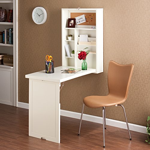 For Sale Southern Enterprises Autumn Collection Fold-Out Convertible Desk, Winter White on Line