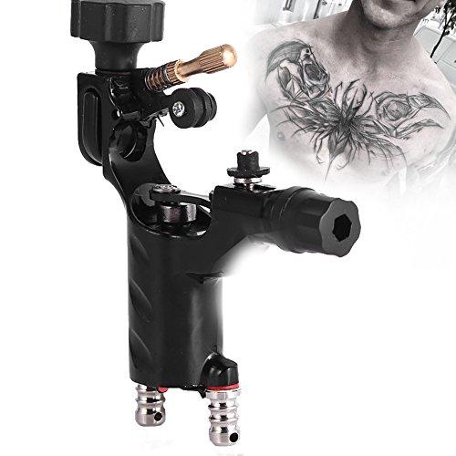 Rotary Tattoo Maschine, Rotary Liner Shader Tattoo Maschine Starke Motor Gun RCA Kabel Künstler Make-Up-Tool(Schwarz)