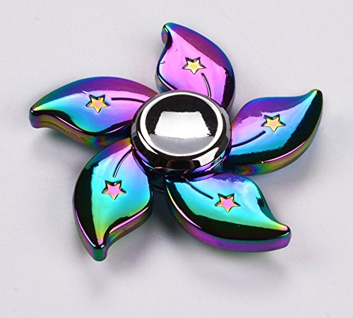 Omeny Colorful Bauhinia Flower Hand Spinner Fidget Toy Stress Reducer Anxiety Relief Toys for Killing Time