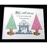 Personifiziertes Weihnachtsweihnachtsweihnachtsgeschenk. Präsentiert in 8