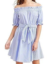 Kleid blau mit weiber spitze