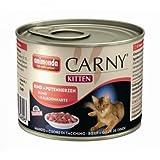 6 x Animonda Cat Dose Carny Kitten Rind & Putenherzen 200g, Nassfutter, Katzenfutter
