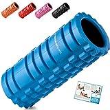 Starwood Sport Foam Roller per Massaggio Muscolare del Tessuto Profondo-Trigger Point Terapia-miofasciale-Muscle Roller per Fitness, Crossfit, Pilates e Yoga (Blu con Nero Core)