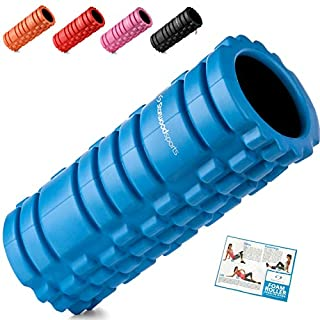 Starwood Sports Foam Deep Tissue Massage-Trigger Point Therapy-Myofascial Release-Muscle Roller for Fitness, Crossfit, Yoga & Pilates, Blue With Black Inner Core, 33 x 14 cm x 14 cm (B06X3VYM9L) | Amazon price tracker / tracking, Amazon price history charts, Amazon price watches, Amazon price drop alerts