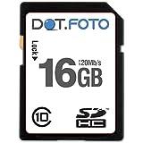 Dot.Foto - 16 Go Carte mémoire SDHC Classe 10 - 20Mo/sec pour appareils photo Pentax K [Pour la compatibilité voir la description]