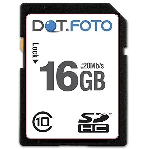 Dot.Foto - 16 Go Carte mémoire SDHC Classe 10 -