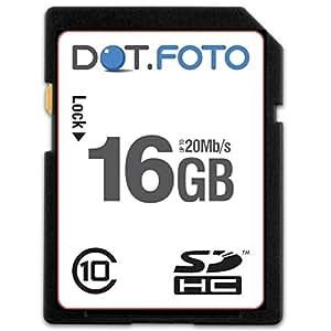 Dot.Foto - 16 Go Carte mémoire SDHC Classe 10 - 20Mo/sec pour appareils photo Fujifilm X [Pour la compatibilité voir la description]