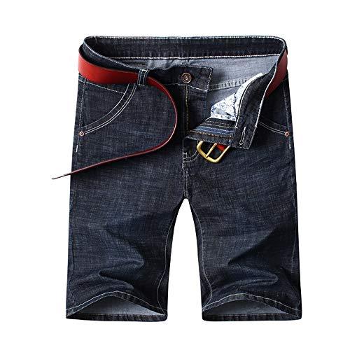 YURACEER Herren Sommer Kurze Hosen Cowboy Shorts 2019 Sommer Neue männer Stretch Kurze Jeans Mode Lässig Slim Fit Hohe Qualität Elastische Denim Shorts Männlichen(Kein Gürtel) x1