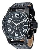 Jet Set - J7413B-257 - San Remo - Montre Homme - Quartz Chronographe - Cadran Noir - Bracelet Cuir Noir
