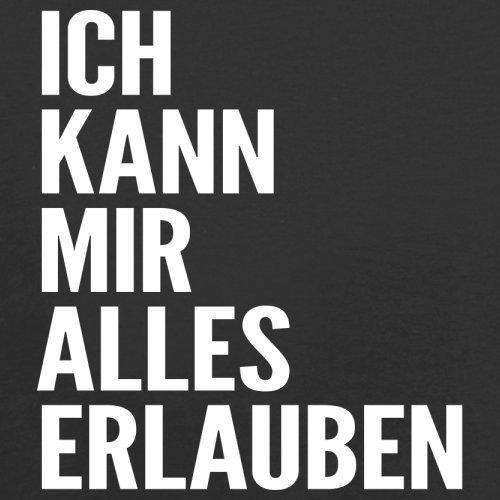 ICH KANN MIR ALLES ERLAUBEN - Damen T-Shirt - 14 Farben Schwarz