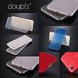 doupi UltraSlim Case für iPhone 7 FeinMatt FederLeicht Hülle Bumper Cover Schutz Tasche Schale Hardcase, schwarz -