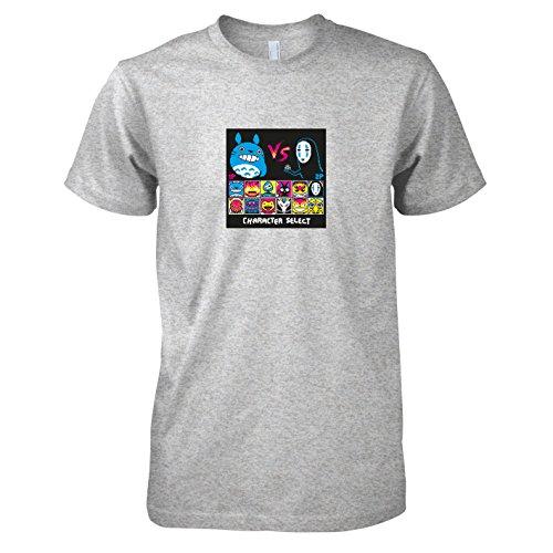TEXLAB - Ghibli Fighters - Herren T-Shirt Graumeliert