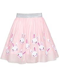 Sunny Fashion Chicas Falda Rosa Conejito Conejo Lentejuelas Espumoso Tutu Bailando 9-10 años