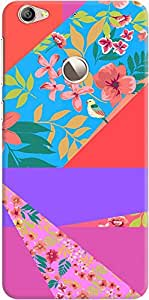 DailyObjects Floral Diagonals Case For Le1S Eco