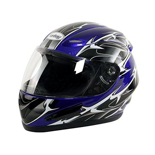 Preisvergleich Produktbild Yorbay Motorradhelm Integralhelm Sturzhelm Helm mit verschienden Typen & in unterschiedlichen Größen (Blau,  M)