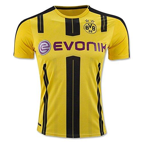 Kit de camiseta de Dortmund Borussia (2016-2017) para poner nombre y número, de flores en amarillo., hombre, amarillo, large