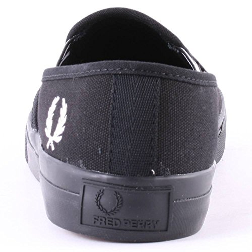 Fred Perry Turner Slip On Heavy Canvas Noir Noir