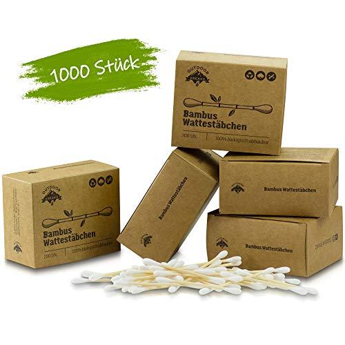 Bastoncillos de bambú 100% biodegradables.
