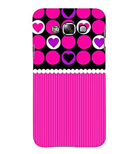 Print Masti Designer Back Case Cover for Samsung Galaxy E5 (2015) :: Samsung Galaxy E5 Duos :: Samsung Galaxy E5 E500F E500H E500Hq E500M E500F/Ds E500H/Ds E500M/Ds (Style Love Heart Pattern Design Wallpaper)