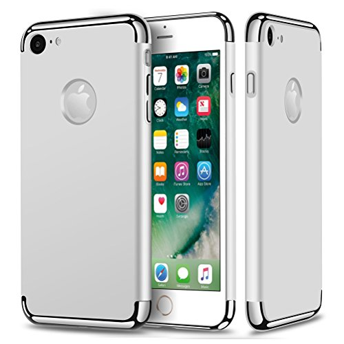 """MOONCASE iPhone 7 Coque - Placage Détachable Design PC Trois-Pièces Slider Antichoc Etui Rigide Case pour iPhone 7 4.7"""" Or Argent"""