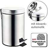 bremermann® Treteimer mit Absenk-Automatik, Anti-Fingerabdruck, 3L, hochglänzend