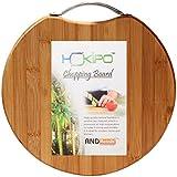Hokipo Circular Eco-Friendly Natural Bamboo/Wooden Chopping Cutting Board With Handle, 30 X 30Cm