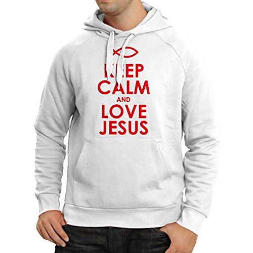 Felpa con cappuccio Magliette cristiane, idee regalo Bianco Rosso
