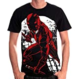 Daredevil - T-shirt uomo Fight Full Size Marvel cotone nero - S