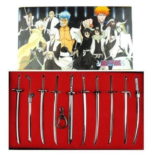 10pcs-bleach-character-sword-collection-weapons