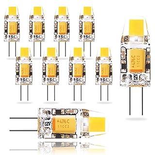 Wowatt LED G4 AC-DC 12V Lampe 1.2W Ersatzt für 10 Watt 2800K Warmweiß Birne Leuchtmittel Stiftsockel Hohe CRI 83Ra 120lm Hell Super Mini 260° Abstrahlwinkel