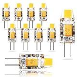 Wowatt LED G4 AC-DC 12V Lampe 1.2W Ersatzt für 10 Watt 2800K Warmweiß