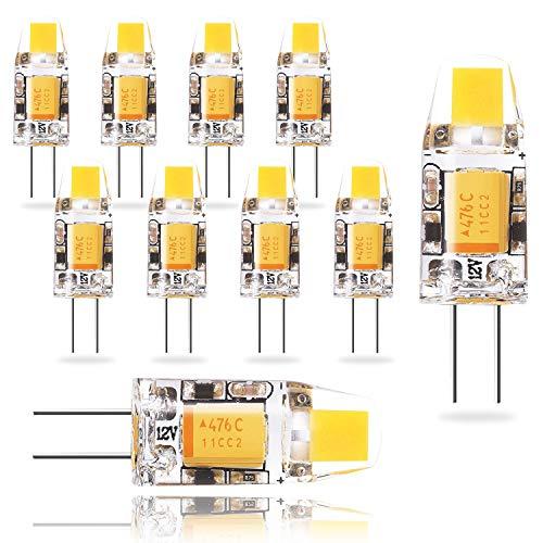 Wowatt LED G4 AC-DC 12V Lampe 1.2W Ersatzt für 10 Watt 2800K Warmweiß -