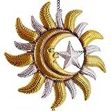Frank Flechtwaren Deko-Hänger Sonne, Mond und Sterne
