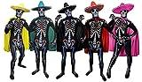 ILOVEFANCYDRESS Sugar Skull KOSTÜM VERKLEIDUNG =Bodysuit/Skinsuit = 4 Verschiedenen FARBENDE UMHÄNGEN + GLEICH FARBIGE Sombrero =Fasching+KARNEVALHALLOWEEN=Unisex= GRÜNER UMHANG +Sombrero-Large