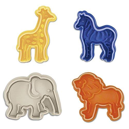 Städter Kinderset - Prägeausstecher Tiere Afrikas (Giraffe, Zebra, Elefant, Löwe)
