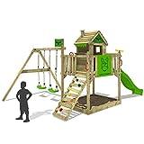 FATMOOSE Stelzenhaus RockyRanch Roll XXL Spielturm Spielhaus mit Doppelschaukel, Rutsche und großem Sandkasten