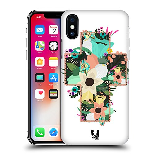 Head Case Designs Bellezza Della Croce Croci Da Collezione Cover Retro Rigida per Apple iPhone X Bellezza Della Croce