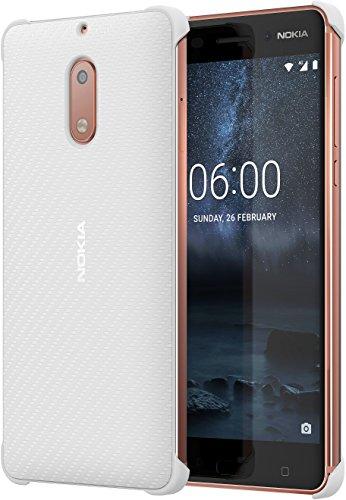 Nokia 1A21M9700VA Carbonfaser Design Hülle CC-802 für Nokia 6 pearl weiß