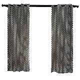 Vorhang kurz und verdunkelungs vorhänge Baumwolle Schwarz Weiß Geometrische Einfacher Stil für Schlaf und Wohnzimmer Balkon, 140 * 215