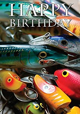 Fishing Lures Birthday Card by Charles Sainsbury-Plaice from Agripix Ltd
