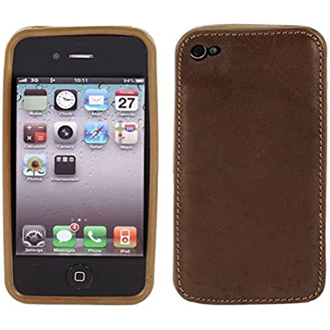 Water & Wood Brown PU Leather Soft TPU Case Cover