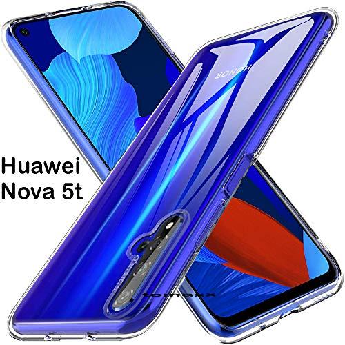 tomaxx Schutzhülle für Huawei Nova 5T Case Hülle Silikon Durchsichtig transparent passt für Huawei Nova 5T