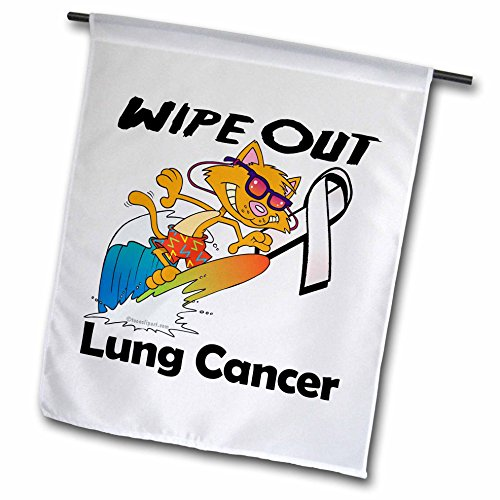 3dRose Wipe Out Lung Cancer Awareness Grund Design–Garten Flagge, 12durch 45,7cm