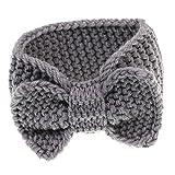 Generic Bambini Neonata Infantile Fiore Elastico Puntello Della Foto Crochet Cerchietti e Fasce per Capelli - Grigio